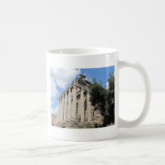 Foro romano - templo de Antoninus Tazas De Café