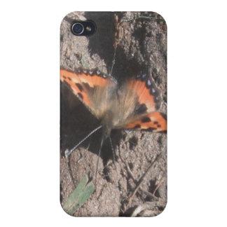 Forraje melenudo de la suciedad de la mariposa del iPhone 4/4S fundas