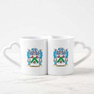 Forrest Coat of Arms - Family Crest Couples' Coffee Mug Set