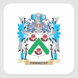 Forrest Coat of Arms - Family Crest Square Sticker