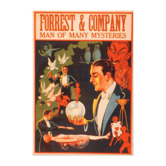 Forrest & Company Man of Many Mysteries Magic Gallery Wrap Canvas