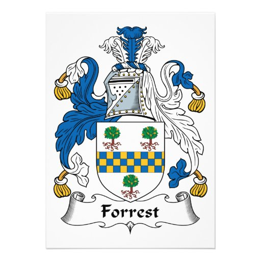 Forrest Family Crest Personalized Invites