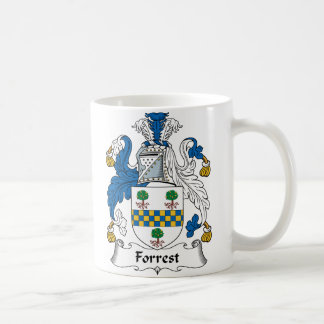 Forrest Family Crest Classic White Coffee Mug