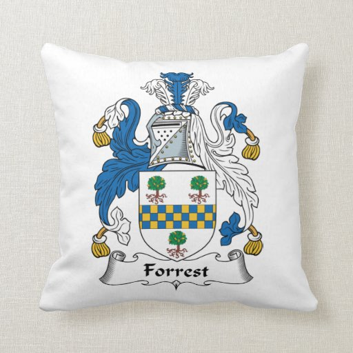 Forrest Family Crest Throw Pillows