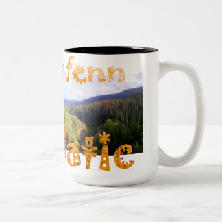 Forrest Fenn Fennatic Where Warm Coffee Halts Two-Tone Coffee Mug