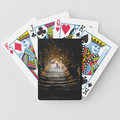 forrest gump road bicycle poker cards
