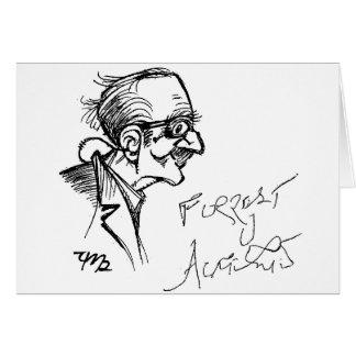 Forrest J Ackerman Schirmeister Sketch Card