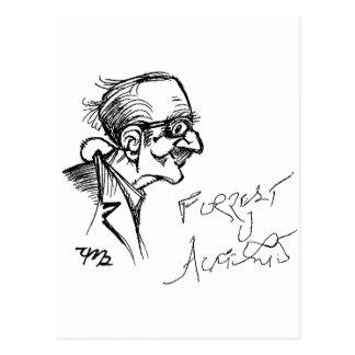 Forrest J Ackerman Schirmeister Sketch Postcard