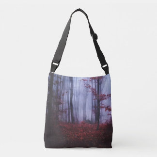 Forrest of Red Crossbody Bag