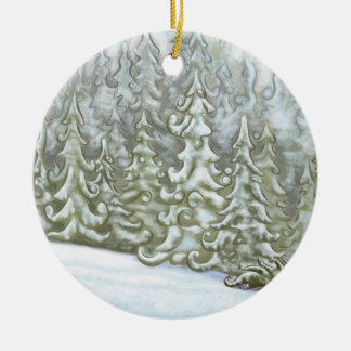 Forrest Snow Christmas Ornament