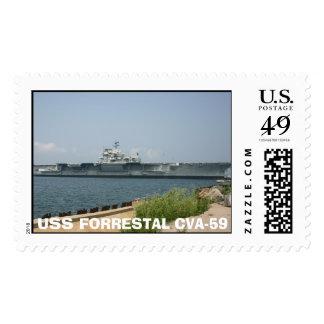 Forrestal Stamp, USS FORRESTAL CVA-59 Stamp