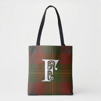 Forrester Clan Tartan Monogram Tote Bag