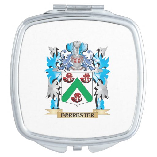 Forrester Coat of Arms - Family Crest Travel Mirror