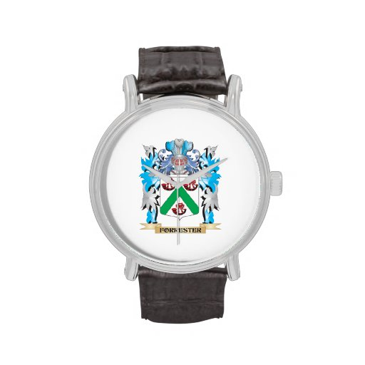 Forrester Coat of Arms - Family Crest Wrist Watches