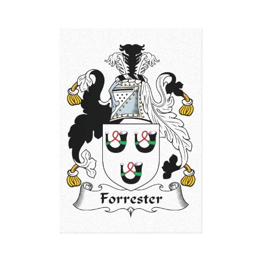 Forrester Family Crest Gallery Wrap Canvas