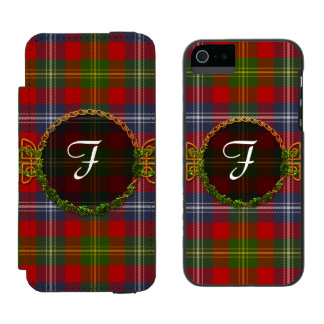 Forrester Tartan And Monogram iPhone SE/5/5s Wallet Case