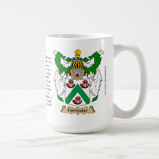 Forrester, the Origin, the Meaning and the Crest Classic White Coffee Mug