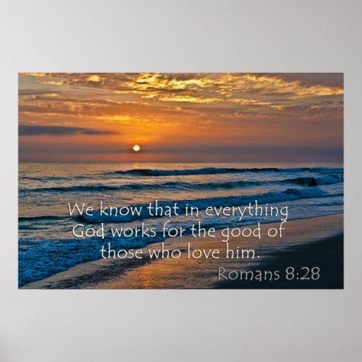 Fors de dios del 8:28 de los romanos para el bueno posters