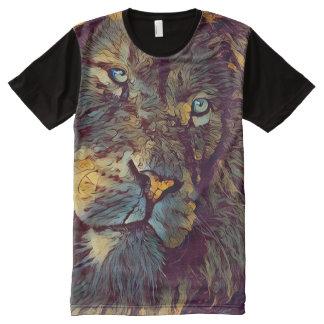 Forsaken Lion Face Fantasy Art All-Over-Print T-Shirt