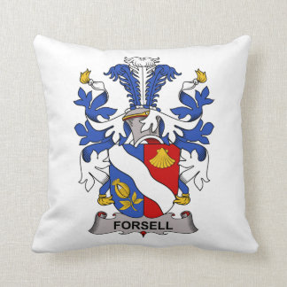Forsell Family Crest Throw Pillow