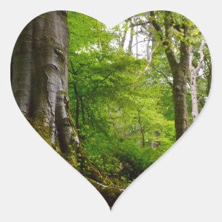 Forset místico pegatina en forma de corazón