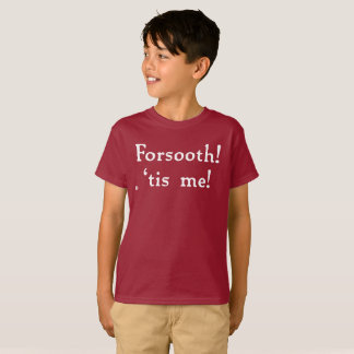 Forsooth! Kids' Tagless Tee (dark)