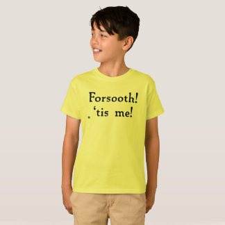 Forsooth! Kids' Tagless Tee (light)