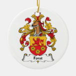 Forst Family Crest Christmas Tree Ornaments