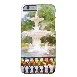 Forsyth Fountain in Savannah GA Watercolor Print Barely There iPhone 6 Case