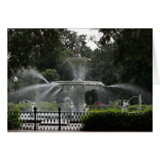 forsyth fountain savannah georgia picture greeting cards