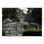 forsyth fountain savannah georgia picture greeting card