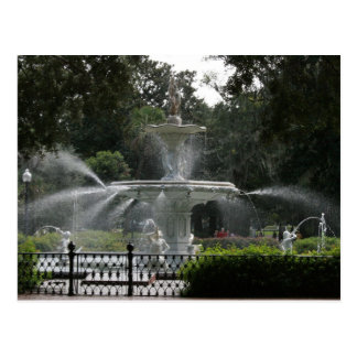 forsyth fountain savannah georgia picture postcard