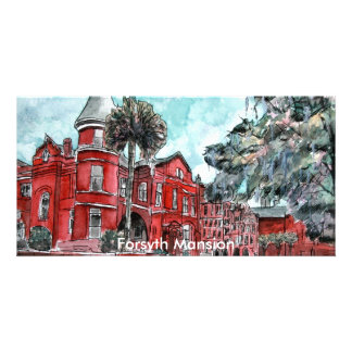 Forsyth Mansion Savannah Georgia art painting Card