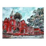 Forsyth Mansion Savannah Georgia art painting Postcard