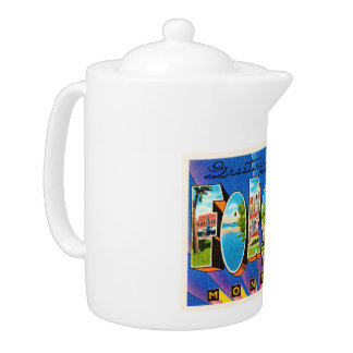 Forsyth Montana MT Old Vintage Travel Souvenir Teapot