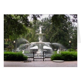 Forsyth Park Fountain Card