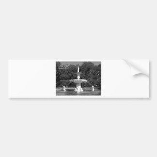 Forsyth Park Fountain Savannah, Georgia Car Bumper Sticker