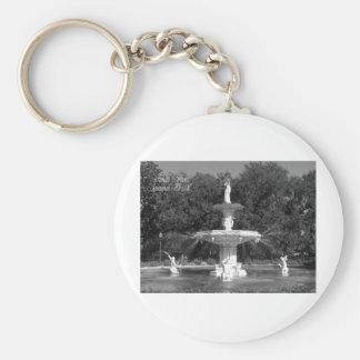 Forsyth Park Fountain Savannah, Georgia Keychain