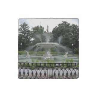 Forsyth Park Fountain Savannah, Georgia Stone Magnet