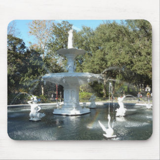 Forsyth Park Fountain Savannah Photo Mousepad