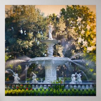 Forsyth Park in Savannah Ga Print