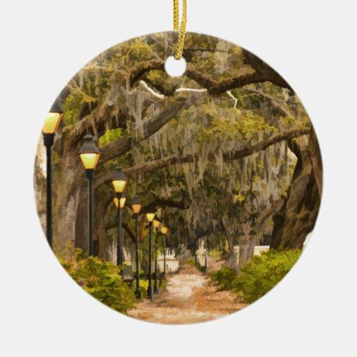 Forsyth Park - Photo, Savannah, Georgia (GA) USA Ornaments