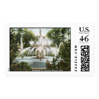 Forsyth Park, Savannah 1906 Vintage stamp