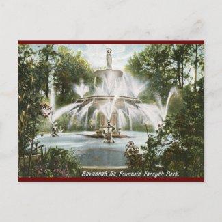 Forsyth Park, Savannah 1906 Vintage postcard