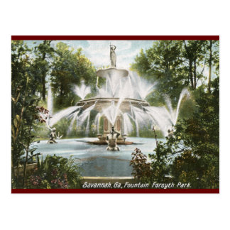 Forsyth Park Savannah 1906 Vintage Postcards