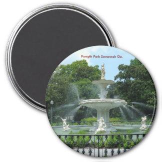 Forsyth Park Savannah Ga. 3 Inch Round Magnet