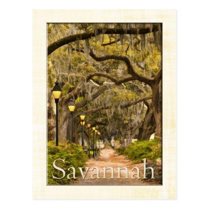 Forsyth Park - Savannah, GA Postcards