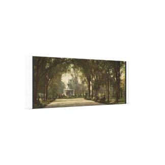 Forsyth Park, Savannah, Georgia circa 1901 Canvas Print
