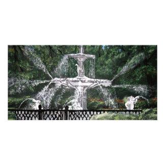 Forsyth Park Water Fountain Savannah Georgia GA Card