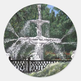 Forsyth Park Water Fountain Savannah Georgia GA Classic Round Sticker